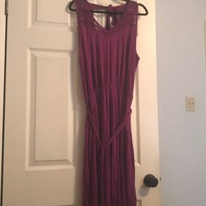 Purple Cotton Eloquii Dress